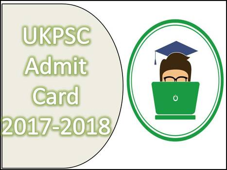 Ukpsc Admit Card Recruitment News Scoop It