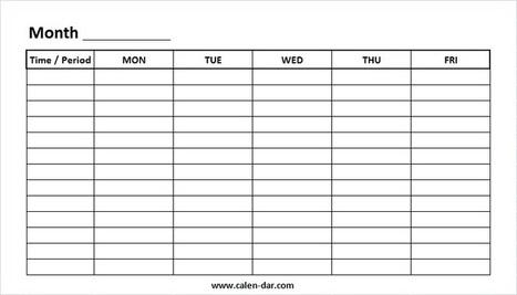 Weekly Calendar Template In Printable Calendar Scoop