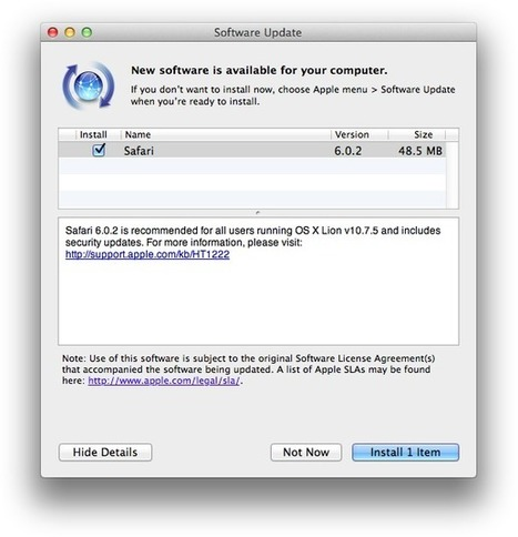 Safari Update Fixes Security Flaws   Ciberseguridad + Inteligencia   Scoop.it