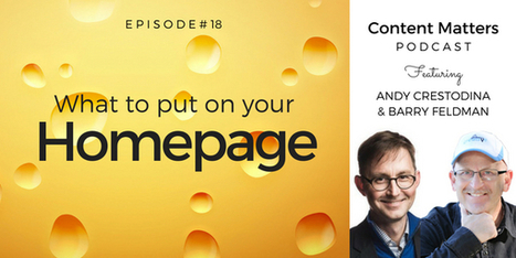 What to Put on Your Homepage [Podcast, Ep. 18] - Orbit Media Studios | Website Pages Advice | Scoop.it