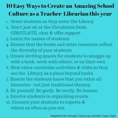 Leading & Building a Positive Culture as a Teacher-Librarian   Libraries   Scoop.it