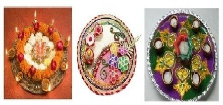 Aarti thali decoration ideas in extra cashback on your shopping 20 aarti thali decoration designs image idea for pooja wedding kurti saree designs junglespirit Choice Image