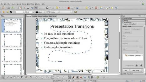 Add transitions and custom animations to presentations in LibreOffice Impress | omnia mea mecum fero | Scoop.it
