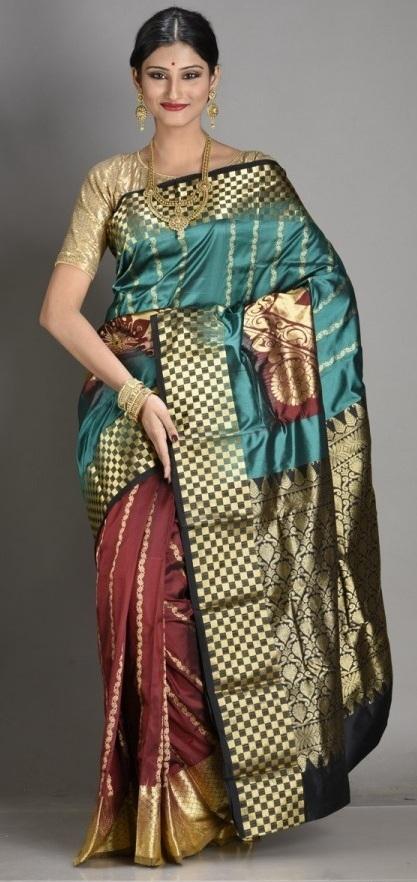 Kanjivaram Bridal Sarees Brocade Silk South