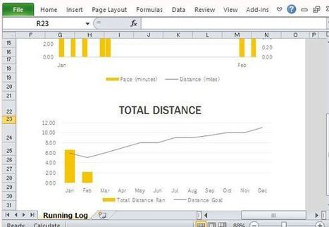 Free Running Log Template For Microsoft Excel