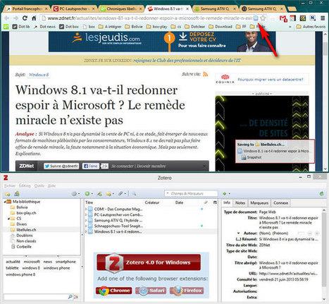 Zotero - Outil de gestion de documentation, gratuit et open source, multi-plateforme | Time to Learn | Scoop.it