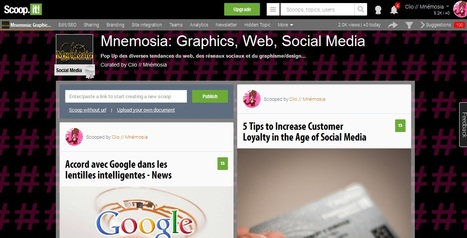 Scoop Scoop Scoop.It, la bonne stratégie? | Mnemosia: Graphics, Web, Social Media | Scoop.it