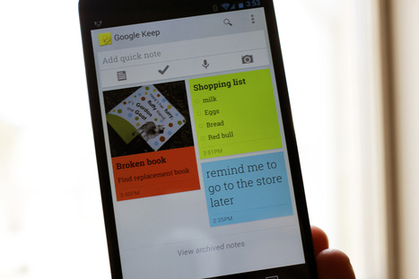 Get started with Google Keep | Sniffer | Scoop.it