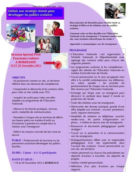 Aquitaine, Limousin, Midi Pyrénées, développez vos publics scolaires ! | Tourisme en Famille - Pistes à suivre | Scoop.it