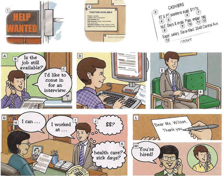 Job search and job interview vocabulary PDF - L...