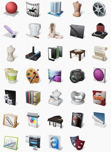 Art Professions Icons, un pack gratuito de bellos iconos de arte   Create, Innovate & Evaluate in Higher Education   Scoop.it
