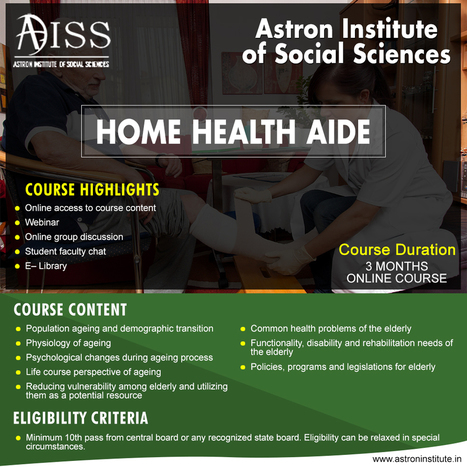 the scope of home health aide training | instit...