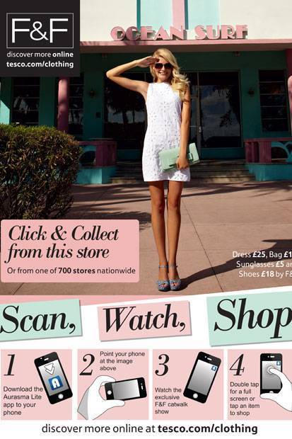 Tesco's fashion line takes window shopping into the future | Augmented Reality News and Trends | Scoop.it