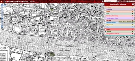 Explore Shakespeare's London With This Interactive 16th Century Map | Creative Tools... and ESL | Scoop.it