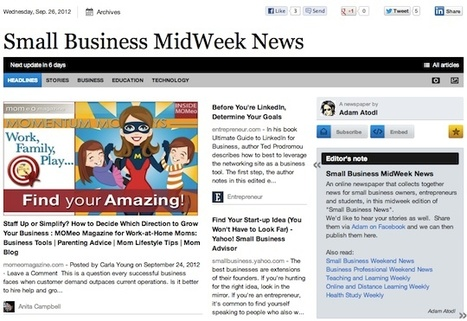 Sept 26 - Small Business MidWeek News is out | Transformations in Business & Tourism | Scoop.it