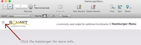FileMaker: Hamburger Menu - FileMakerProGurus | All things Filemaker  Go | Scoop.it