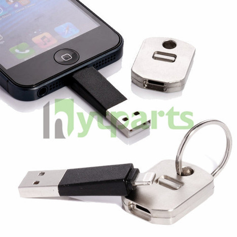 Key Chain 8Pin USB Charger Data Sync Cable for iPhone 5S 5 5C iPad Mini | Fixing or DIY our cell phones by ourselves | Scoop.it
