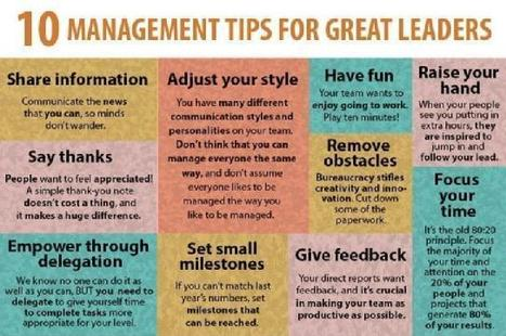 10 Management Tips for Great Leaders | Leadership | Scoop.it