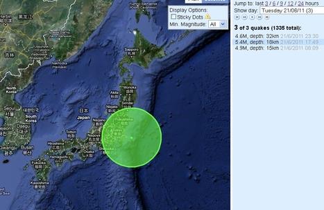 [séisme] Un forte réplique aujourd'hui | Japan Quake Map | Japon : séisme, tsunami & conséquences | Scoop.it
