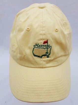 77bae3c068a Masters Augusta National American Needle Yellow Logo Slouch Strapback Dad  Hat