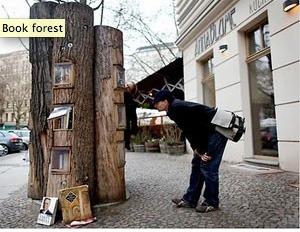 Des bibliothèques dans les arbres | Bibliothèques : portage à domicile | Scoop.it
