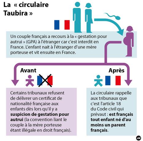 Infographie gpa la circulaire taubira pol - Mere porteuse en france ...