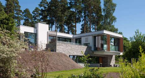 Magnifique maison contemporaine en pierre, b&ea...