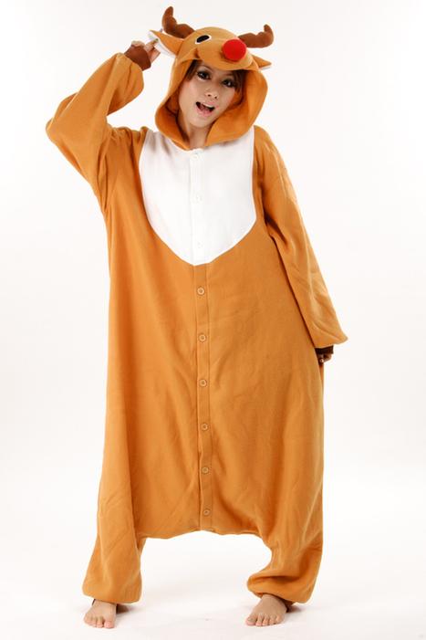 Adult onesies golden reindeer Kigurumi animal onesies 62e7012786938