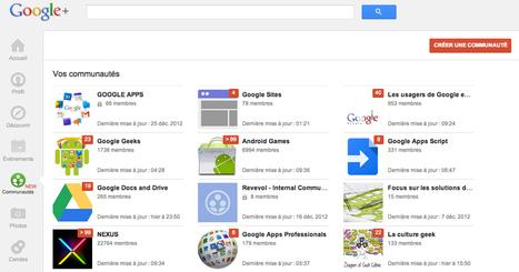 Google Plus : le guide sur les communautés   Le blog de Thierry VANOFFE : Coach Google   transition digitale : RSE, community manager, collaboration   Scoop.it