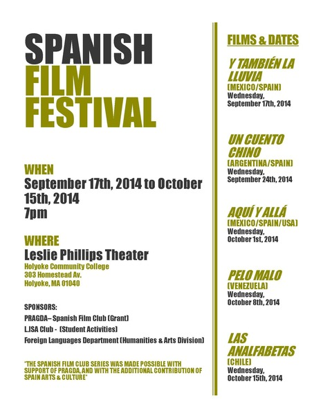 SPANISH FILM FESTIVAL at Holyoke Community College | The UMass Amherst Spanish & Portuguese Program Newsletter | Scoop.it