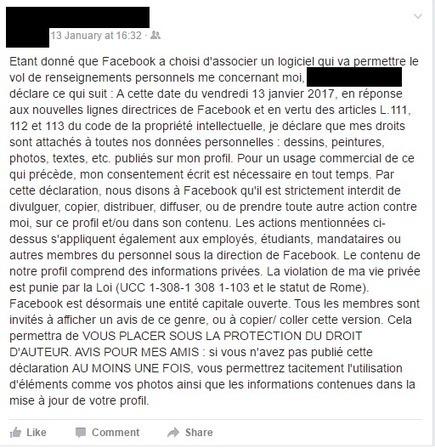 N'insistez pas, Copier/Coller un statut sur Facebook pour protéger ses données est (toujours) inutile | JP revues | Scoop.it