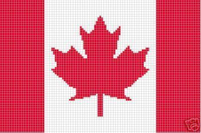 Crochet Patterns Flag Canadian Afghan Pattern