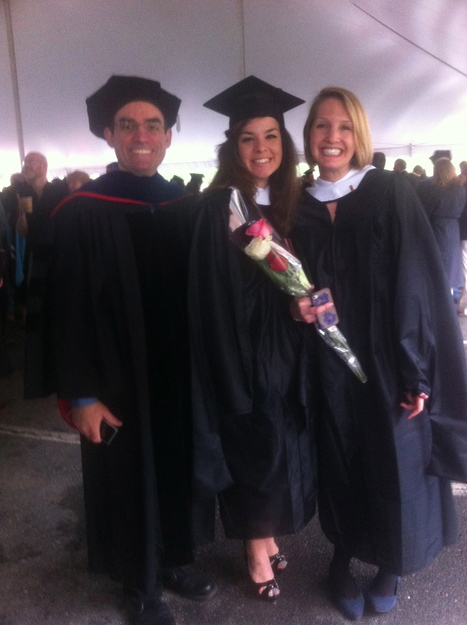 COMMENCEMENTS: Alba Arias, M.A. and Lucia Donatelli, M.A. with advisor Prof. Luiz Amaral | The UMass Amherst Spanish & Portuguese Program Newsletter | Scoop.it