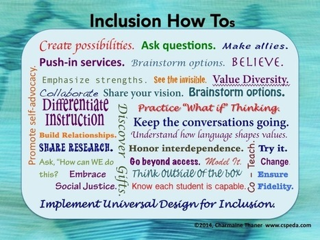 Inclusion How Tos | Beyond Special Education | Scoop.it
