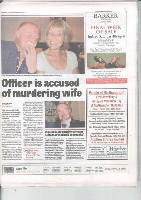 Det Constable 505 Adrian Otis Goldsmith Command Support Team Officer Murders His Wife | Northamptonshire County Council (UK) | Scoop.it