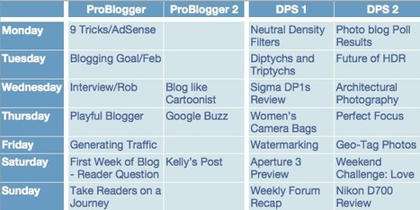 ProBlogger: Your First Week of Blogging – Plan Your Future Blog Posts | Blogs, Blogging and Bloggers. | Scoop.it