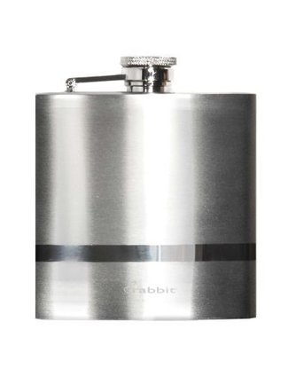 6oz Hip Flask With Maltese Oval Insert FREE KEYRING