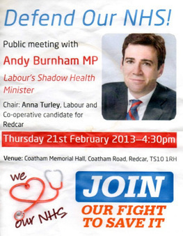 An evening with Andy Burnham - and hope for the NHS | Welfare, Disability, Politics and People's Right's | Scoop.it