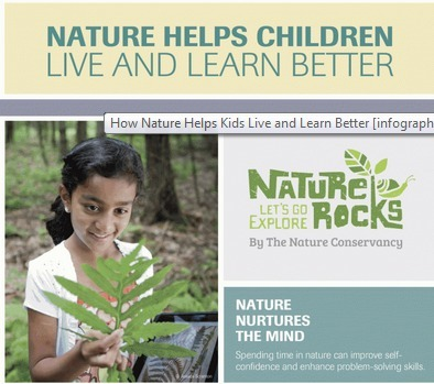 How Nature Helps Kids Live and Learn Better [infographic] | Early Brain Development | Scoop.it