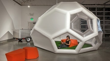 The Pneumad portable shelter inflates itself | Green Deal | Scoop.it