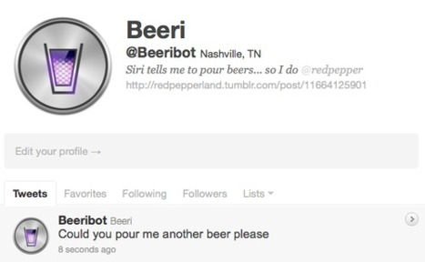 redpepper / Have Siri pour you a beer | Twitter Bots | Scoop.it