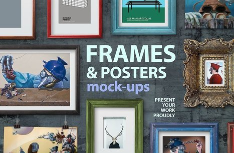 FREE MOCKUPS |  Wall Art Frames and posters ⭐️ Expires Sunday | Design Freebies & Deals | Scoop.it