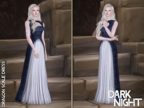 2066b62d72 The Sims Resource  Dragon Scale Dress by DarkNighTt