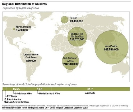 World's Muslim population more widespread than you might think | Human Geography CP | Scoop.it
