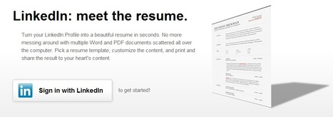 Turn your LinkedIn Profile into a Resume | Time to Learn | Scoop.it
