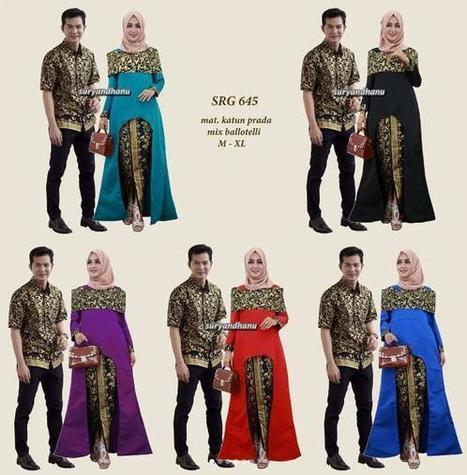 37 Model Rok Batik Panjang Pesta Modern Span 20