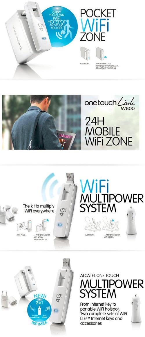 Alcatel One Touch Link W800 | Alcatel W800 LTE WiFi Dongle