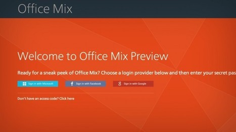 Microsoft Office Mix : PowerPoint en version survitaminée   Time to Learn   Scoop.it