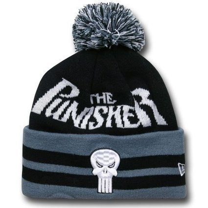 Punisher Logo Wide Point Knit Beanie e0804bade556