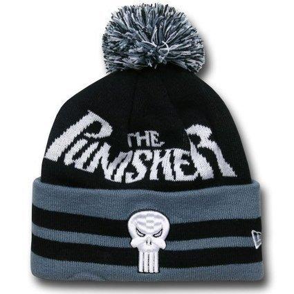 2d8f8210f7f Punisher Logo Wide Point Knit Beanie